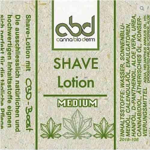 CBD Shave Lotion medium 50ml Etikett