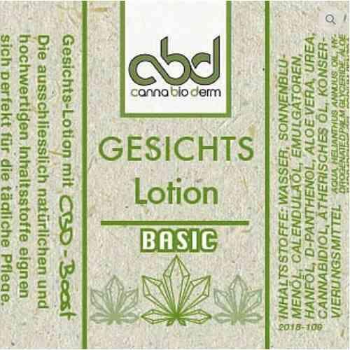CBD Gesichtslotion basic Etikett