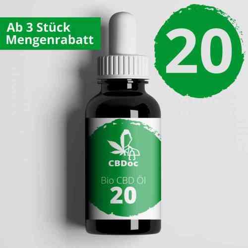 20% CBD Öl Bio Vollspektrum 10 / 30 ml