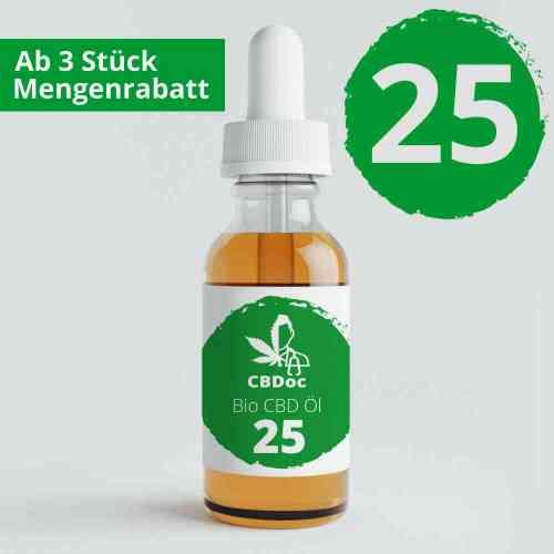 25% CBD Öl Gold Bio 10 / 30 ml