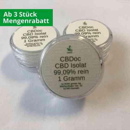 CBD Isolat Kristalle 0,5g - 99% rein