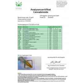 25% CBD Öl Gold Bio Laboranalyse Zertifikat