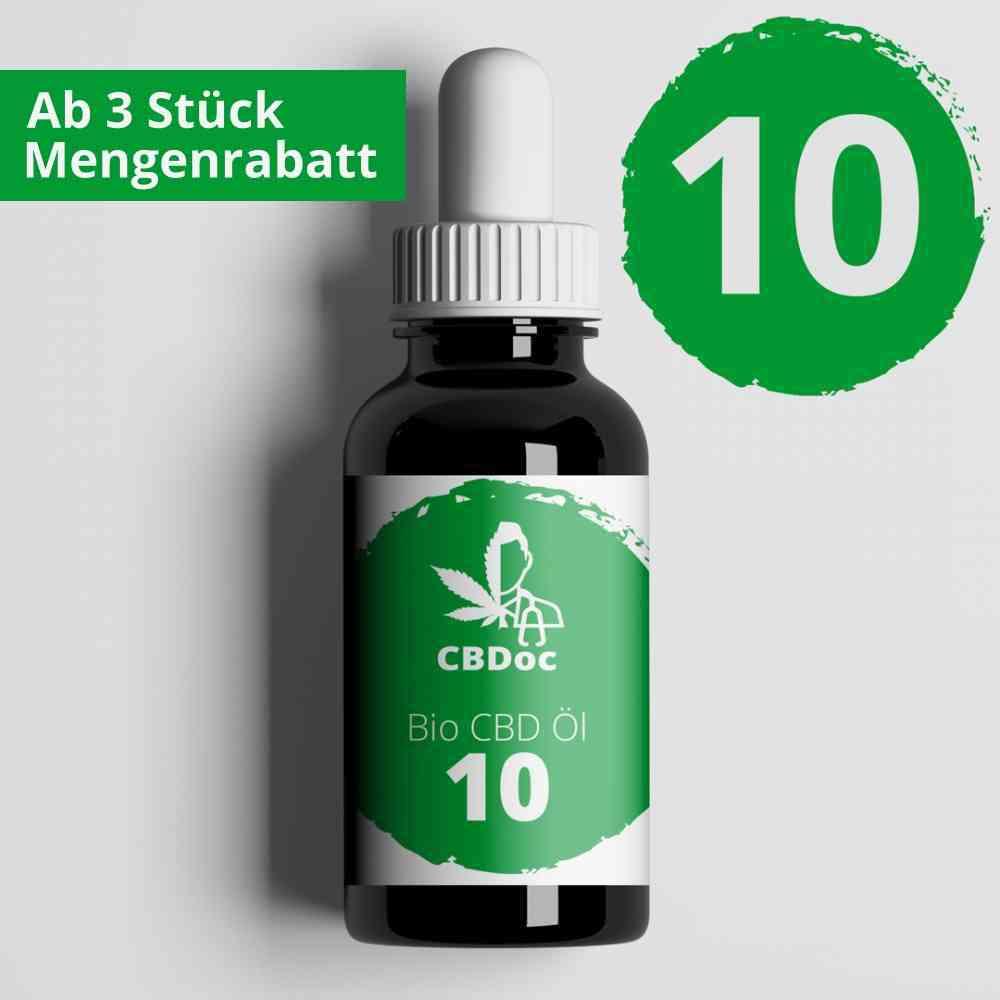 CBDoc 10% Vollspektrum CBD Öl Bio